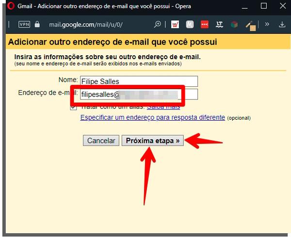 coloque seu email com domínio próprio