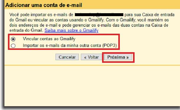 integração no gmail