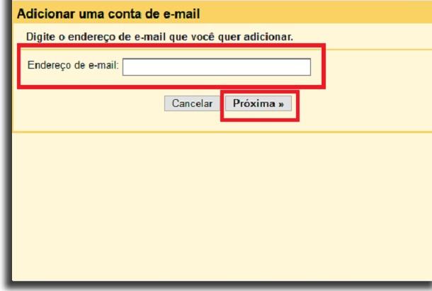 criar email geral nova conta