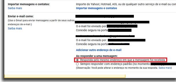 responder pelo email geral
