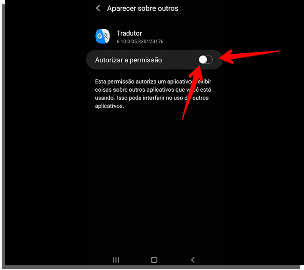autorizar o google tradutor