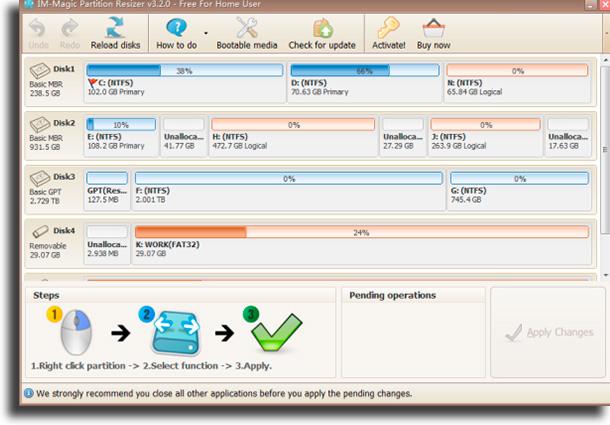 IM-Magic Partition Resizer Free programas para formatar o pen drive