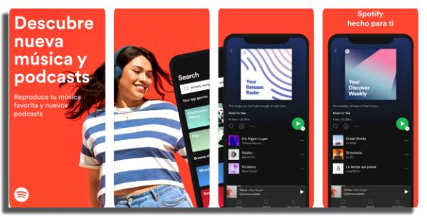 descargar música en iOS Spotify