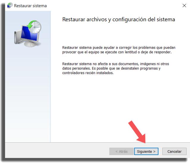 restaurar Windows 10 paso 4