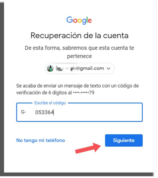 recuperar tu cuenta de Google método 2
