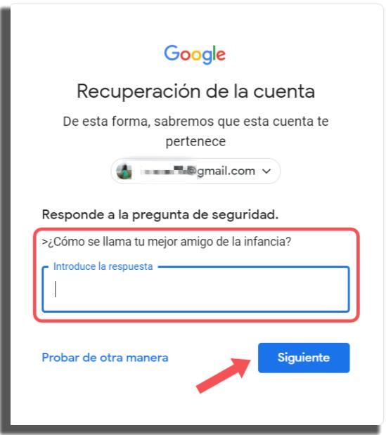 recuperar tu cuenta de Google método 3