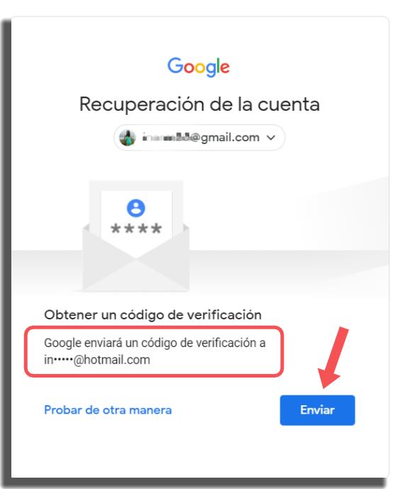 recuperar tu cuenta de Google método 4