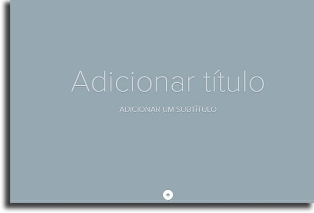 Início da página Adobe Spark Page