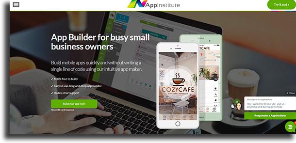 AppInstitute ferramentas para criar um aplicativo