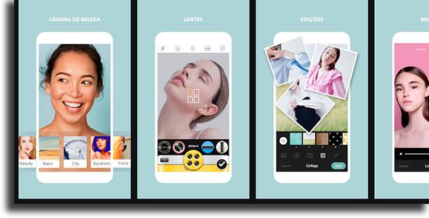 Cymera aplicativos de fotos mais usados