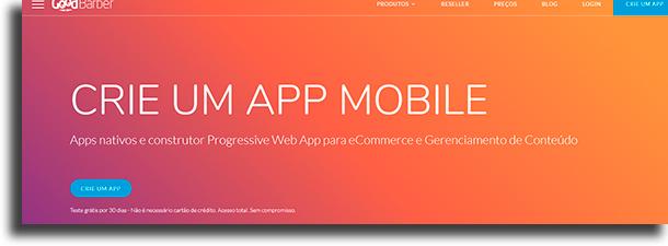 GoodBarber ferramentas para criar um aplicativo