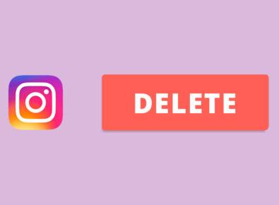 Destque desativar ou excluir conta Instagram