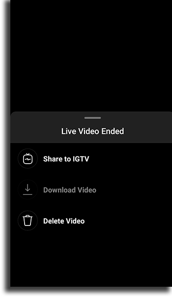 Download video save a live video on Instagram