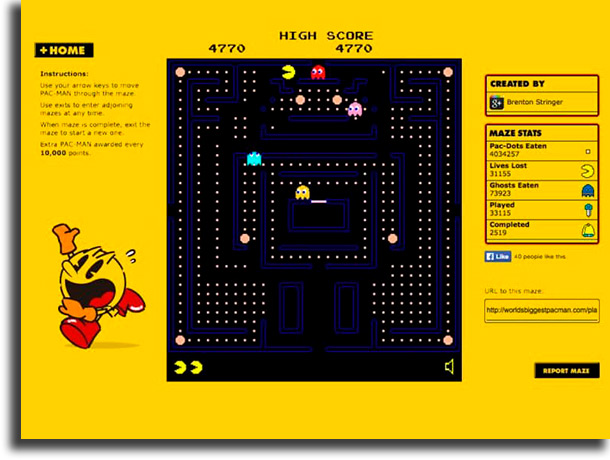 World's Biggest Pac-Man best browser games