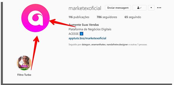 biografia de instagram da empresa marketex