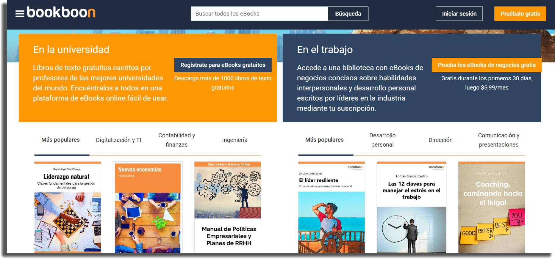 sitios web descargar libros gratis bookboon