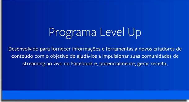 level up no Facebook Gaming