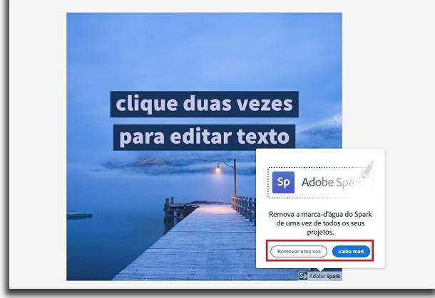 criar anúncios com adobe spark logo