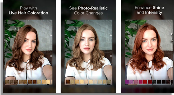 Hair Color Studio apps to change hair color