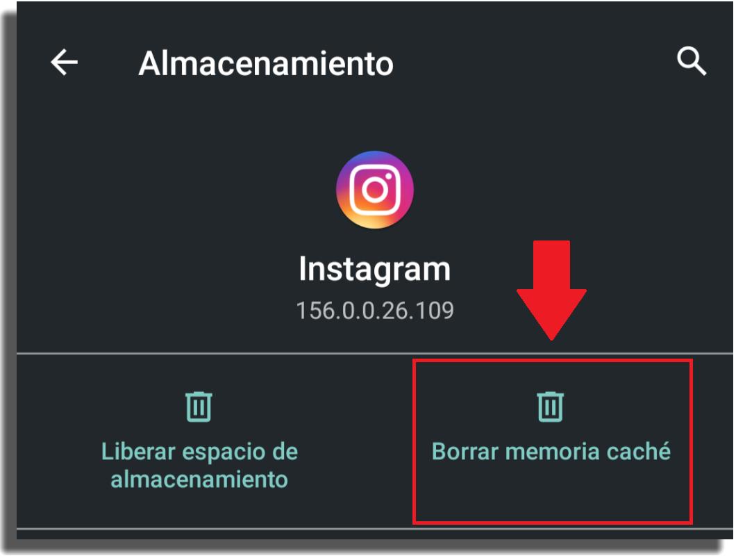 historias no se suben borrar memoria caché de instagram