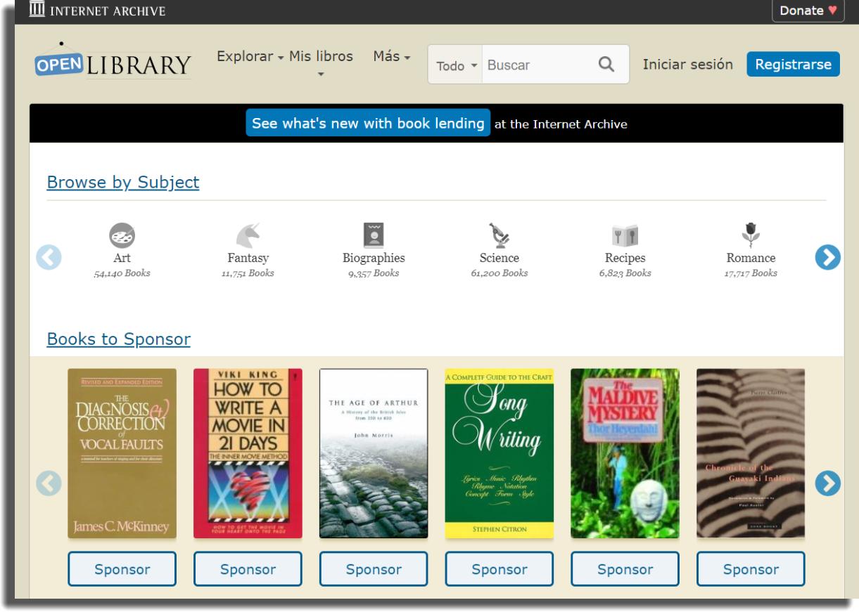 sitios web descargar libros gratis openlibrary