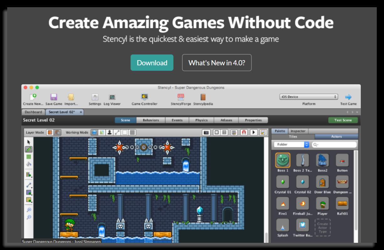 aplicaciones para crear juegos stencyl