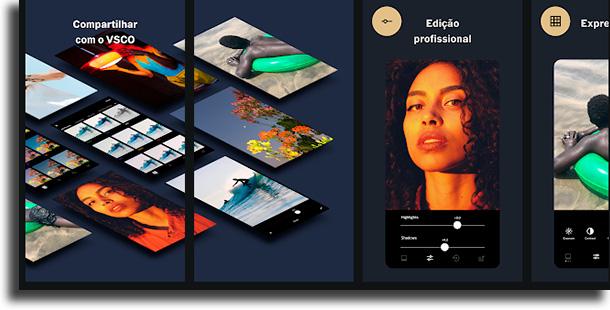VSCO aplicativos de fotos mais usados