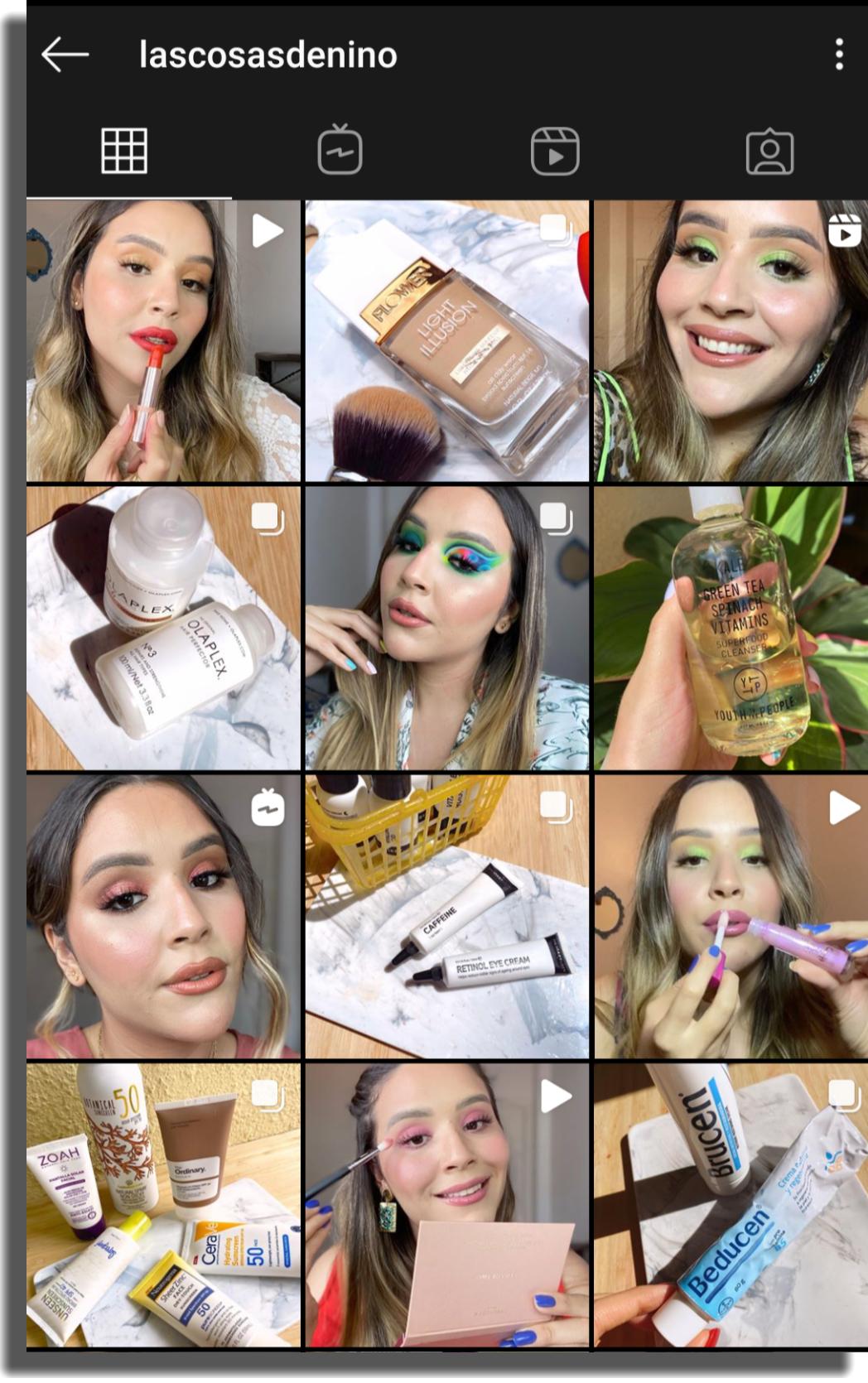 ideas de contenido para Instagram Belleza y maquillaje