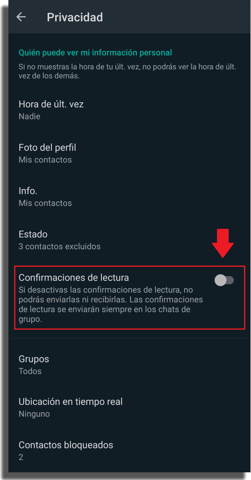 ser invisible en whatsapp confirmación de lectura