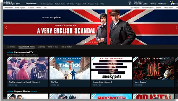 Amazon Prime Video websites to watch movies