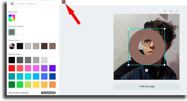 color picker round profile photo on Instagram