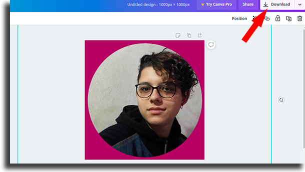 Download round profile photo on Instagram