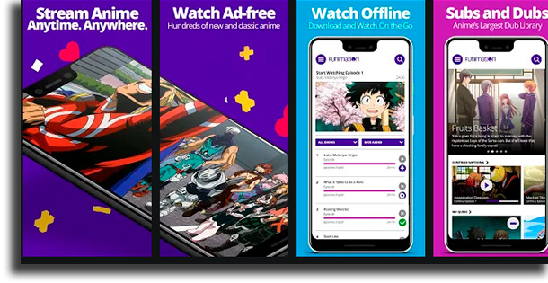 Funimation apps to watch anime