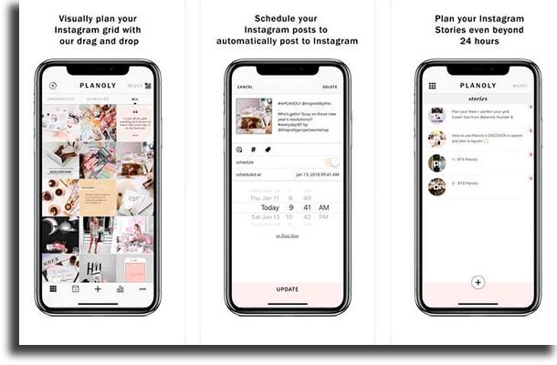 Planoly organize Instagram feed