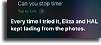 Can you stop time? funny things to tell siri