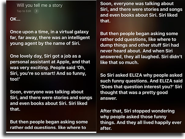 Tell me a story funny things to tell siri