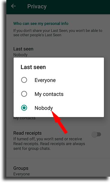 Nobody appear offline on WhatsApp