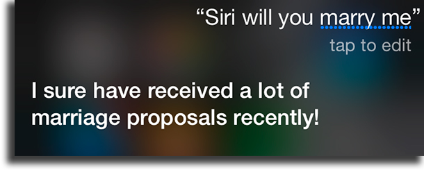 Will you marry me? funny things to tell siri