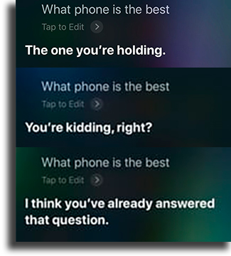 What phone is the best? funny things to tell siri