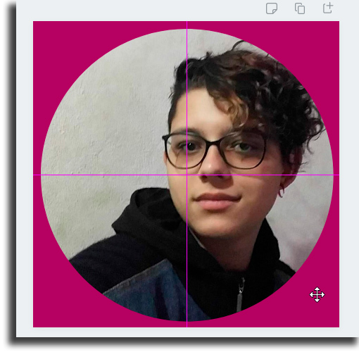 pink cross round profile photo on Instagram