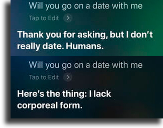 Will you go on a date with me? funny things to tell siri