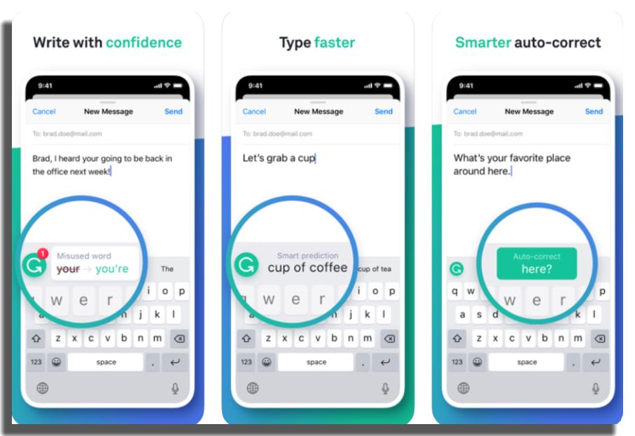 apps para corregir textos grammarly