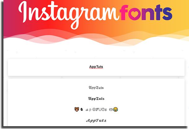 Instagram Fonts fonts for Instagram