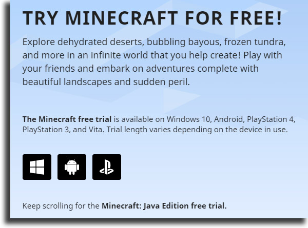 download play Minecraft for free