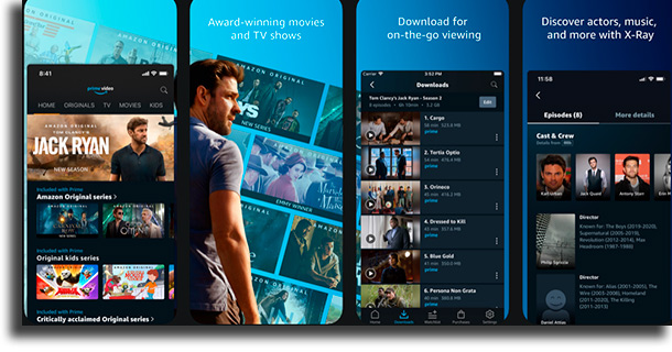 Amazon Prime Video movie streaming apps on iPhone
