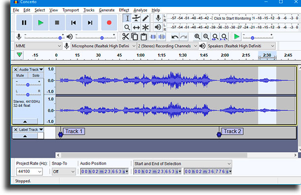 Audacity best audio recording software