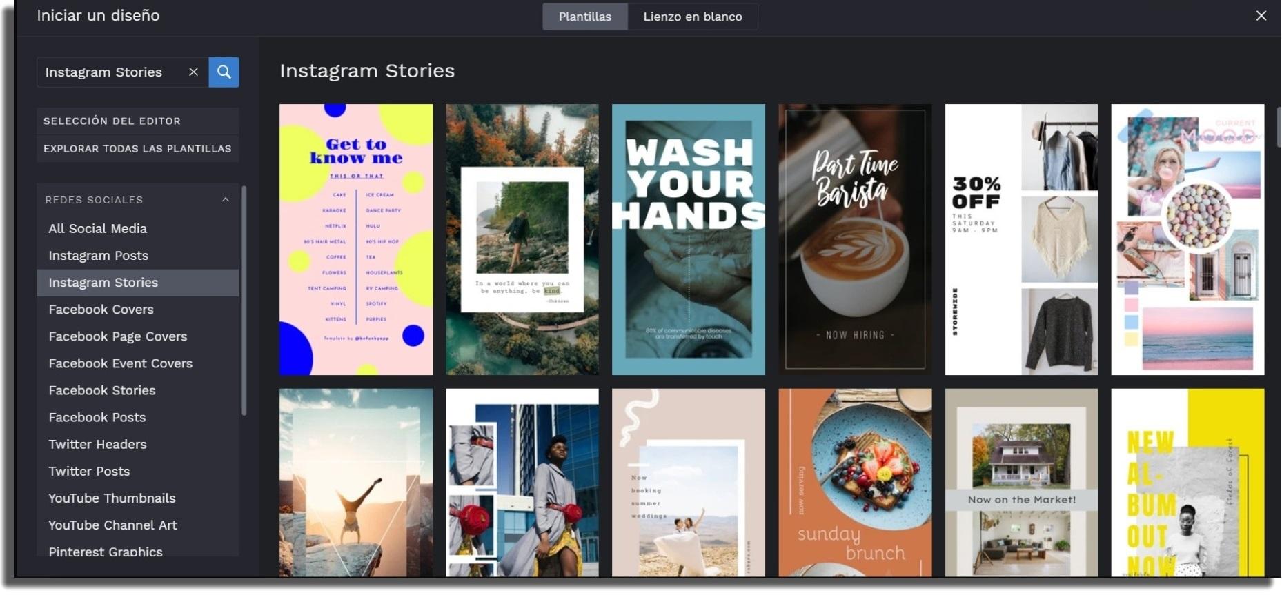 portadas para tus historias destacadas en Instagram befunky