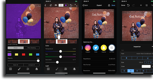 Cinemagraph Pro video editing apps for iPhone