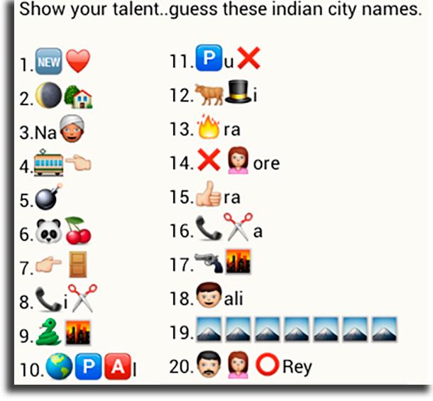City names game WhatsApp games