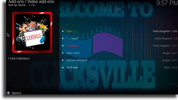 Clicksville best kodi addons